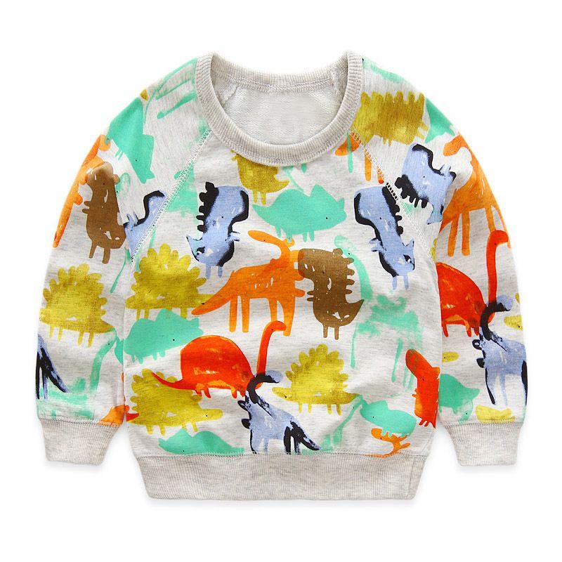 1588c52de 2019 Boys T Shirts Autumn 2016 New Cartoon Dinosaur Long Sleeve Kids T Shirt  For Boy Clothes Cute Animal Printed Toddler Boy Girl T Shirt From  Moonlightzhou ...