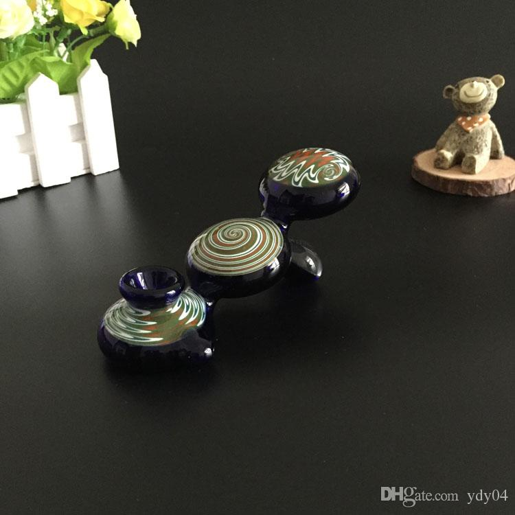 Tubi di vetro USA più importante fumatori di tabacco erbe vaporizzatore Mini bong Forma a mano cucchiaio Animal Tubi disegno speciale Heady bicchiere d'acqua