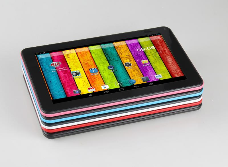 AllWinner A33 tablet pc IPS экран 9 дюймов Android 4.4 512 МБ+8 ГБ Quad Core Dual Camera Wifi Bluetooth 3000mAh 1024*600 Tablet горячие продажа