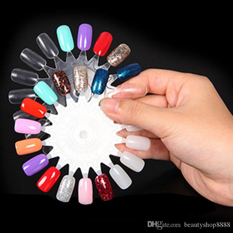 False Tips Display Nail Art Acrylic Practice Uv Gel Nail Polish
