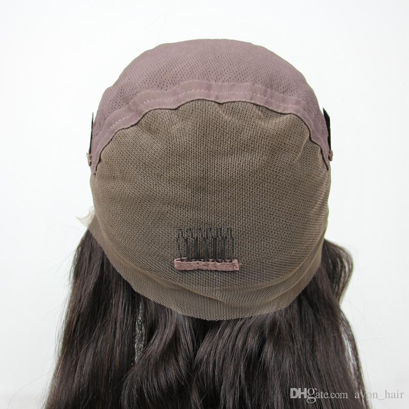 Боковая часть 8А Свободные Волосы Парики из Человеческих Волос Glueless Полные Парики Шнурка С Волосами Младенца 130% Плотность 10-30 Дюймов Для Чернокожей Женщины