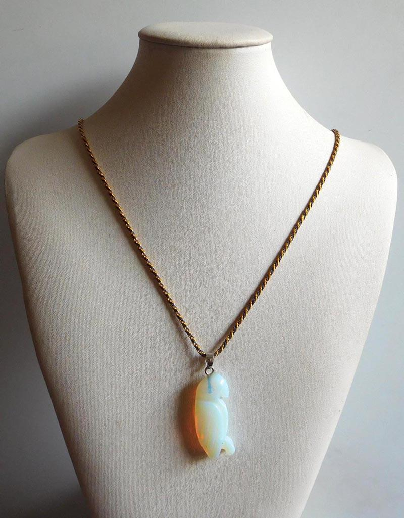 Wholesale New style Women Necklaces & Pendants Natural stone jade Agate Pendant Necklaces jewelry mixed color N17