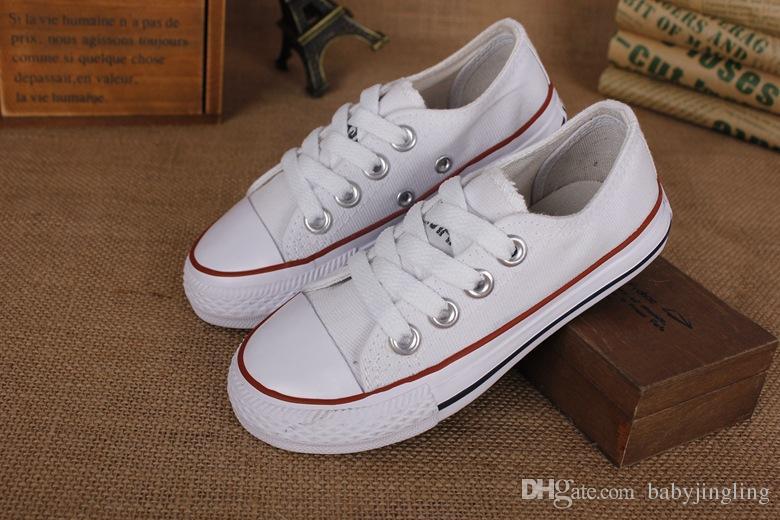 EU-Größe 24-34 Neue Marke scherzt Segeltuchschuhe Art und Weise hohe - niedrige Schuhe Jungen und Mädchen Sport Segeltuchschuhe und Sportkinderschuhe