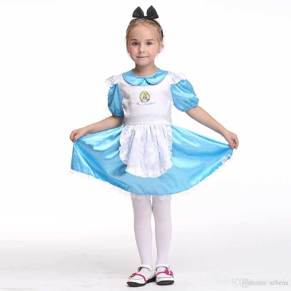 Kids Housemaid Dress Costume Halloween Costume For Girls Stage ...