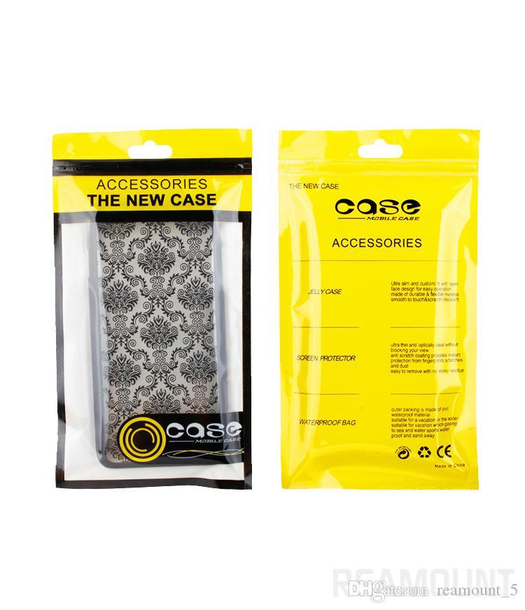 OEM مخصص شعار واضح الذاتي ختم الأغلاق زيبر البلاستيك التغليف التجزئة حقيبة لحالة الهاتف لفون 8 8plus