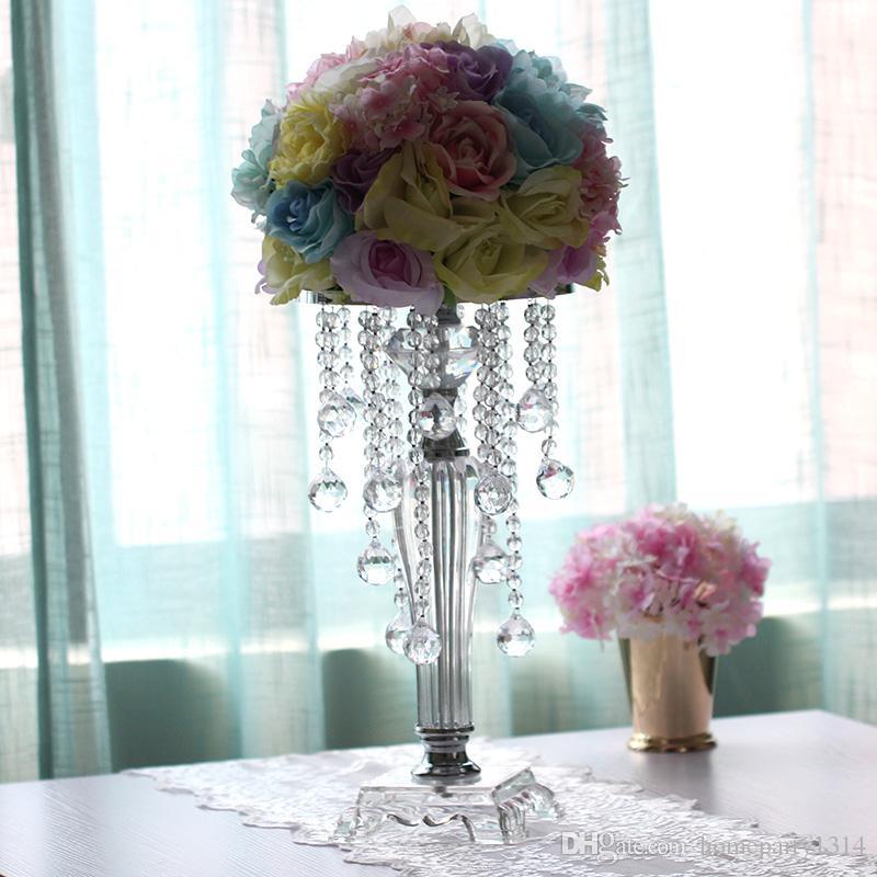 Grosshandel 2018 Mode Hochzeit Kristall Tischdekoration Blumenvase