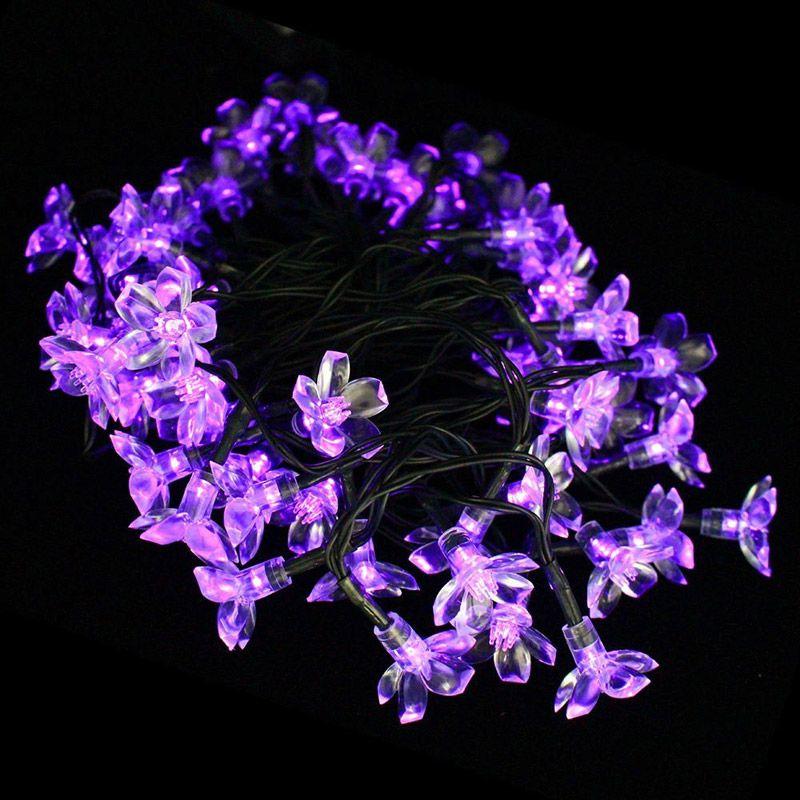 Solar Power LED Fairy String Lights 7M 50 LED Blossom Light Decorative Festival Garden Lawn Patio Christmas Tree Weddings Parties Waterproof