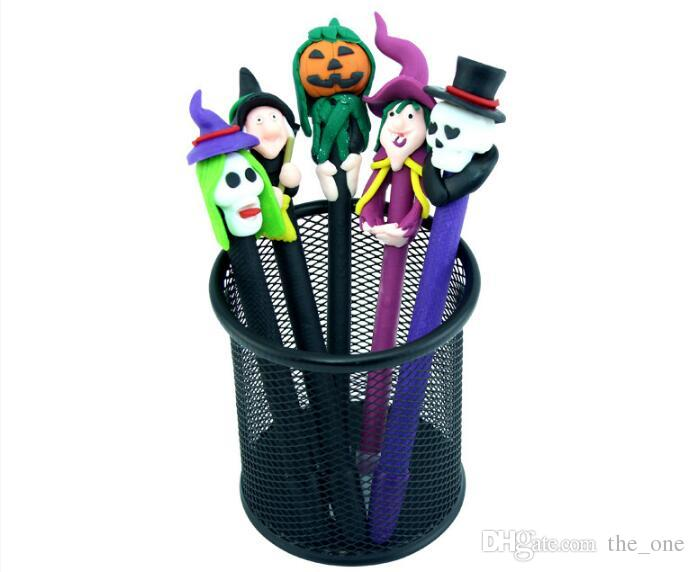 Halloween decorations Ball pen Face pen Pumpkin lantern skeleton head gost face pen Painted pottery pen Halloween gifts in stock