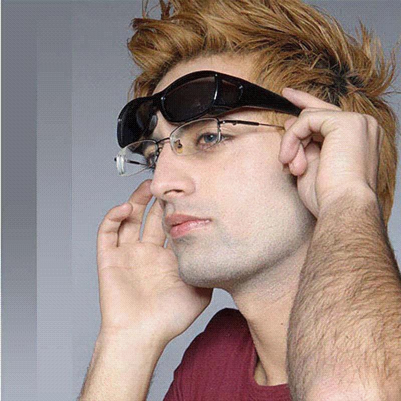 LEDING Brand Polarized Lens Covers Sunglasses Fit Over Wear Over  Prescription Glasses Men Women Size Medium Glasses Case Police Sunglasses  Serengeti ... c50f6d628f