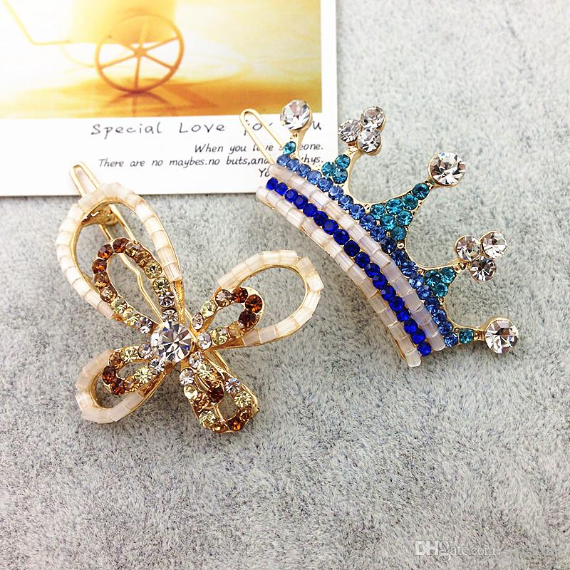 Mix Style Fashion Metal Hair Clips Barrette Crown Hairpin Accessories For Women Girls Hair Clip Pin Clamp Hairclip Hairgrip Ornaments