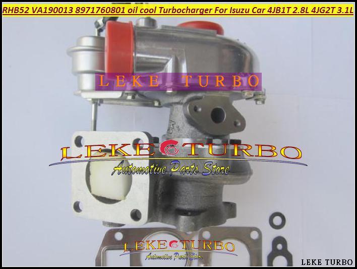 Turbo For ISUZU Car Engine 4JB1T 2.8L 4JG2T 3.1L RHB52 VA190013 8971760801 oil cooled Turbocharger with Gaskets (3)