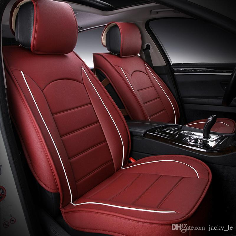 hot sale pu leather car seat covers front rear cover seats protection durable car seat cover. Black Bedroom Furniture Sets. Home Design Ideas