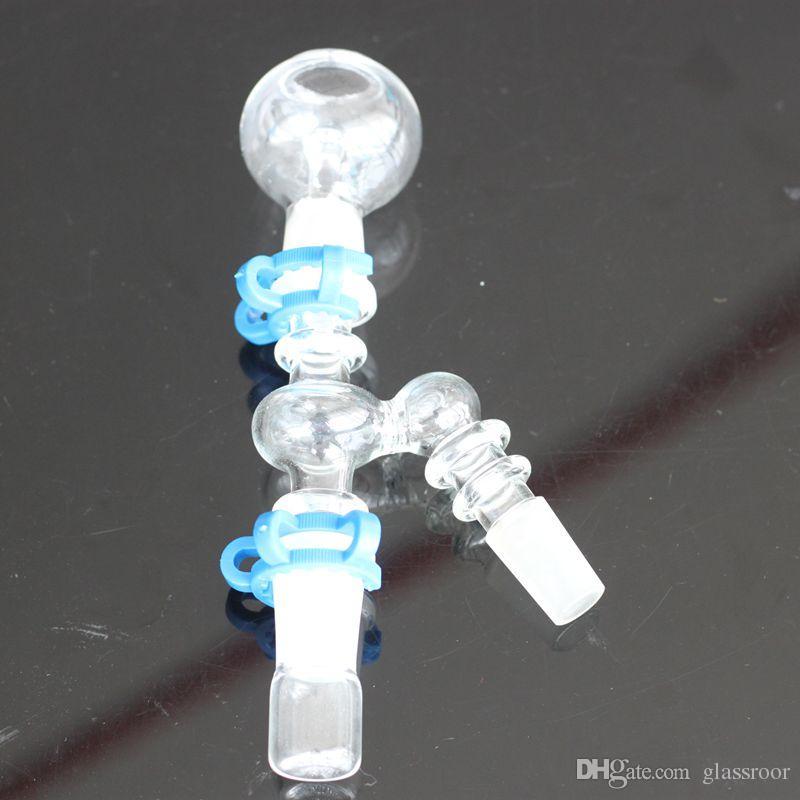 45 gradi angolo di 90 gradi Reclaim Ash Catcher 14mm 18mm Maschio femmina tubo di vetro Adattatore di vetro con clip Keck tubo di acqua di vetro