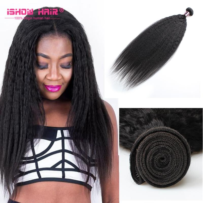 Cheap ishow hair good quality human hair weaves yaki kinky ishow hair good quality human hair weaves yaki kinky straight hair wefts 828inch brazilian indian hair bundles hair extension pmusecretfo Choice Image