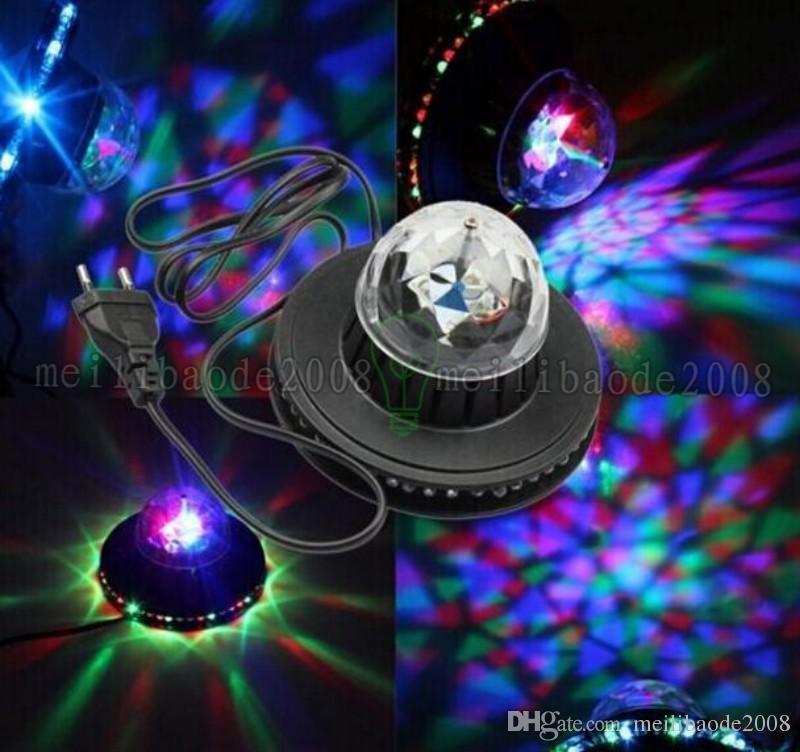 48 المصابيح 8 واط الدوارة rgb led لمبة الكرة اللون تغيير كريستال ماجيك عباد الشمس الخفيفة rgb المرحلة ضوء أدى تأثيرات ل حفلة عيد
