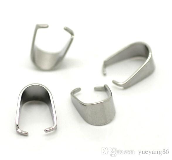 lotto di monili di vendita caldi che trovano le componenti argento puro in acciaio inox ciondolo pizzico clip chiusura bail connettore trovare fai da te