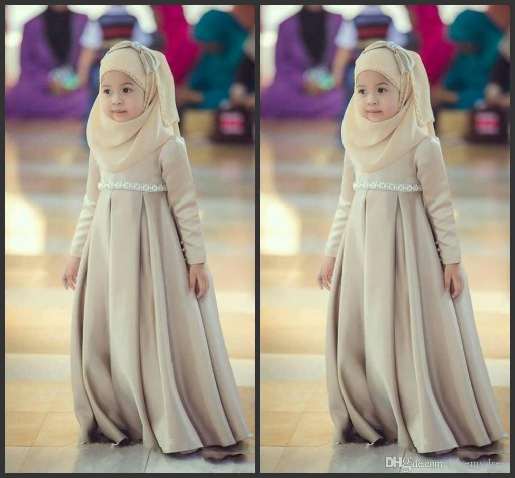Muslim Dress For Kid Children Dress Cheap Long Sleeveless Floor