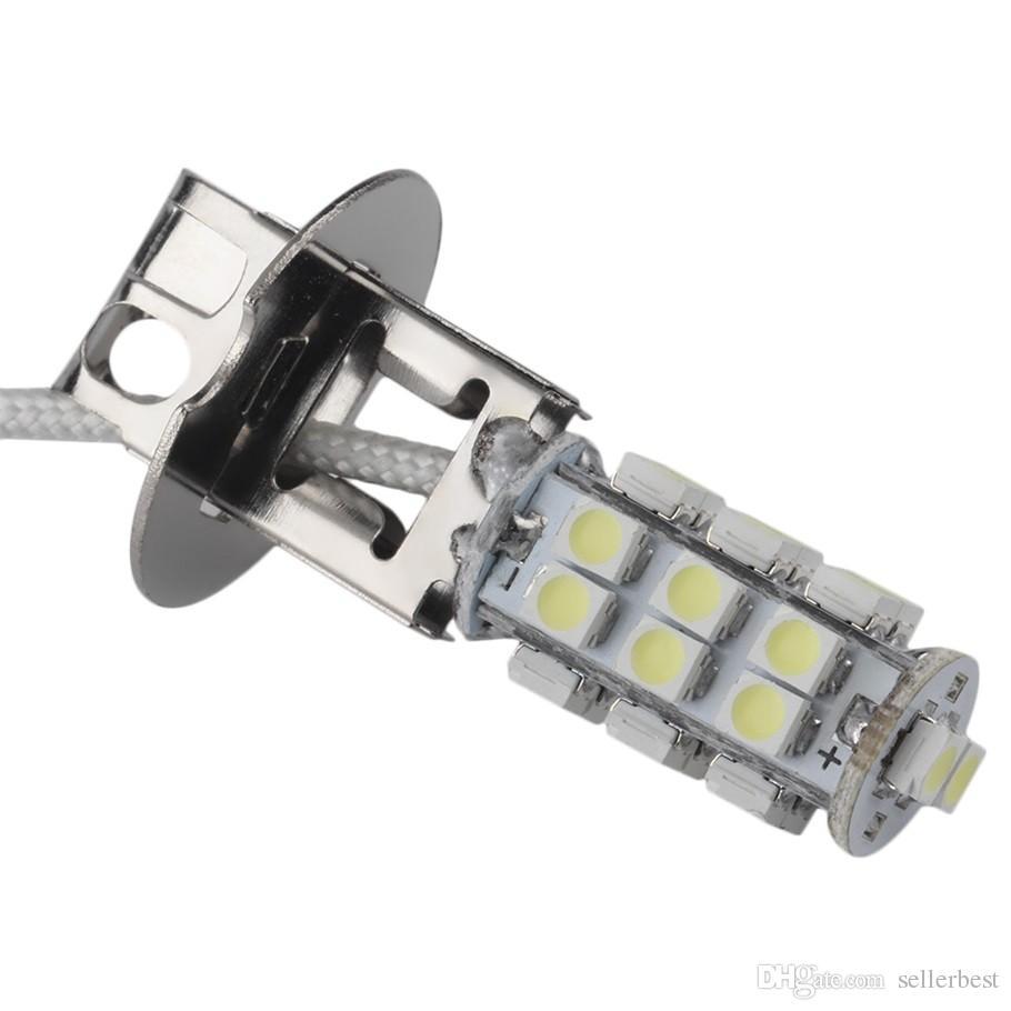 Blanc H1 H3 28 LED 3528 SMD 28SMD 1210 Voiture Auto Source de Lumière Phare Brouillard Tête Signal Lampe Ampoule DC 12 V