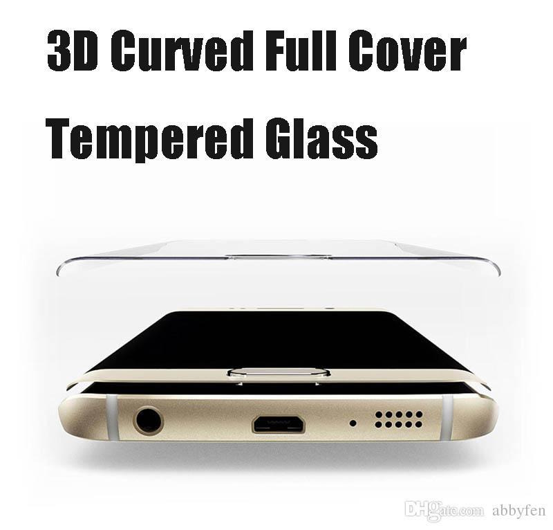 الجبهة الكاملة غطاء 3d منحنى الهاتف حامي شاشة الهاتف لسامسونج غالاكسي S10 S9 S8 زائد Note7 S7 حافة S6 0.3mm الزجاج المقسى