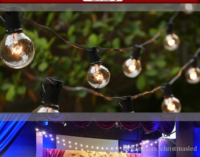25 bulds Patio Lights G40 Globe Party Christmas String Light Warm White 25Clear Vintage Bulbs 25ft Decorative Outdoor Backyard Garland