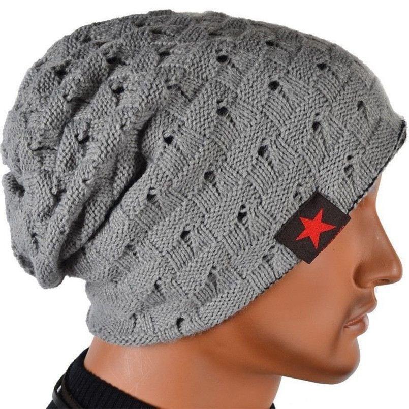 FG1605 2016 Band Beanies Winter Men Knitted Hat Reversible Beanie ... 8c23834a9cd6