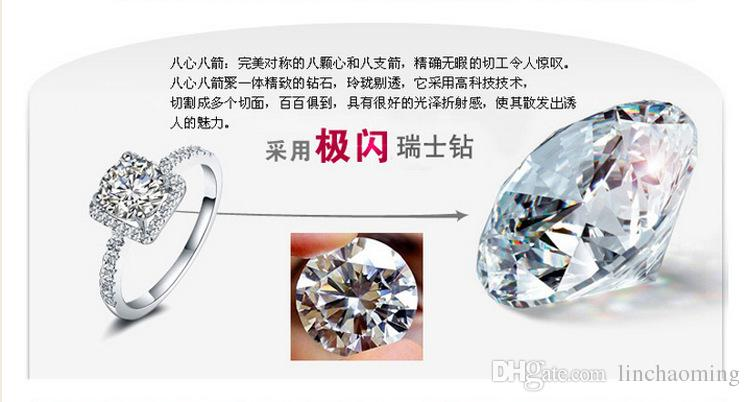 Лучшие продажи стерлингового серебра 925 обручальные кольца с цирконием кольцо Fit костюм Женщины Pandora ювелирных изделий оптом