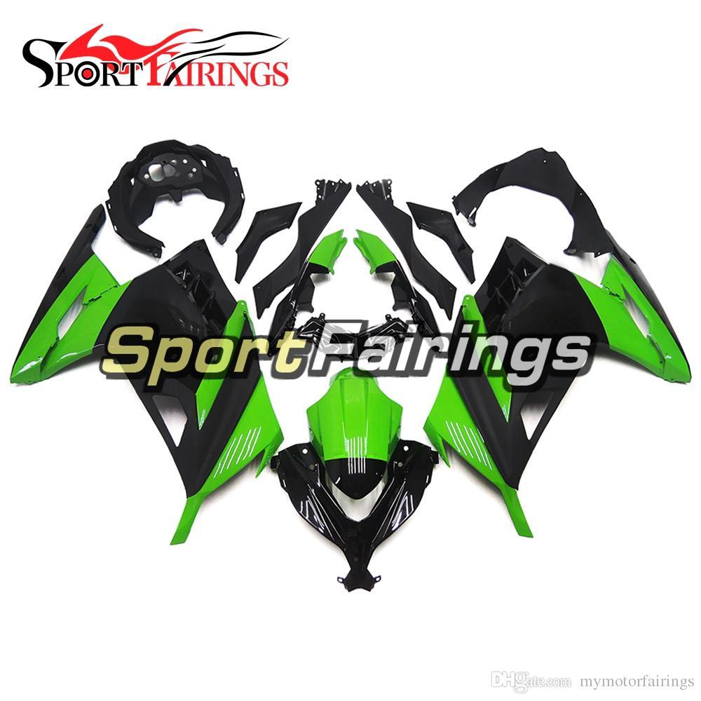 Fairings Black Gloss Green New For Kawasaki Ninja 300 Ex300r 13 14