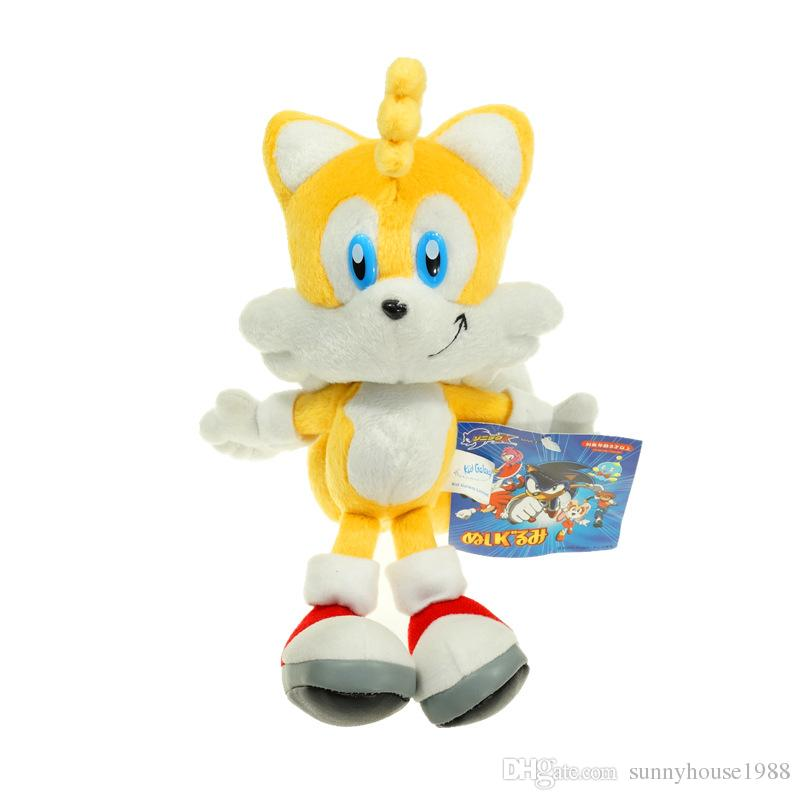 "3 Different Styles Sega Sonic the Hedgehog Plush Doll Toys Blue Yellow Red 10""/25cm"