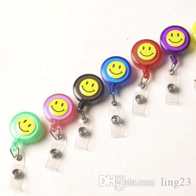 Transparent Vertical Style Acrylic Badge Holder With Retractable Badge Reel Badge Lanyard School Office Supplies