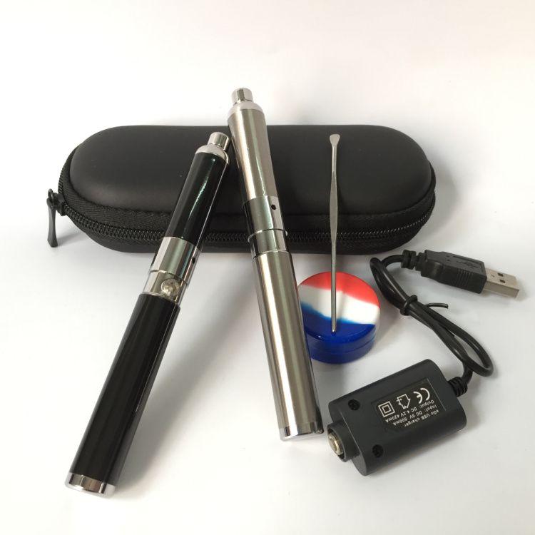 In Stock original Mini Evolve Wax Vaporizer Pen Evolve-D Dry Herb Starter Kit 650mah eGo Thread Coils Silver Black for wax oil