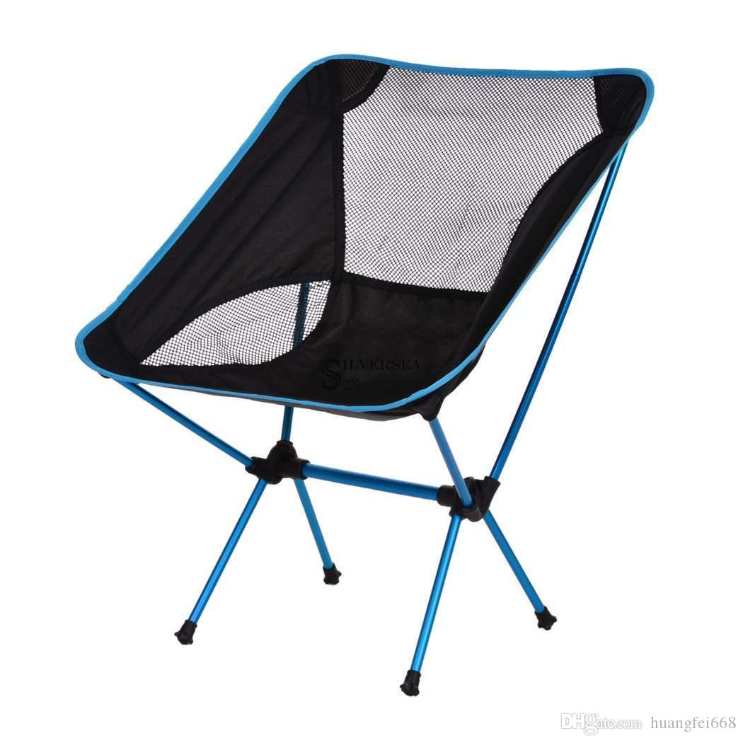Portable Folding Chair Fishing Seat Stool Backpack For Camping Hiking Beach