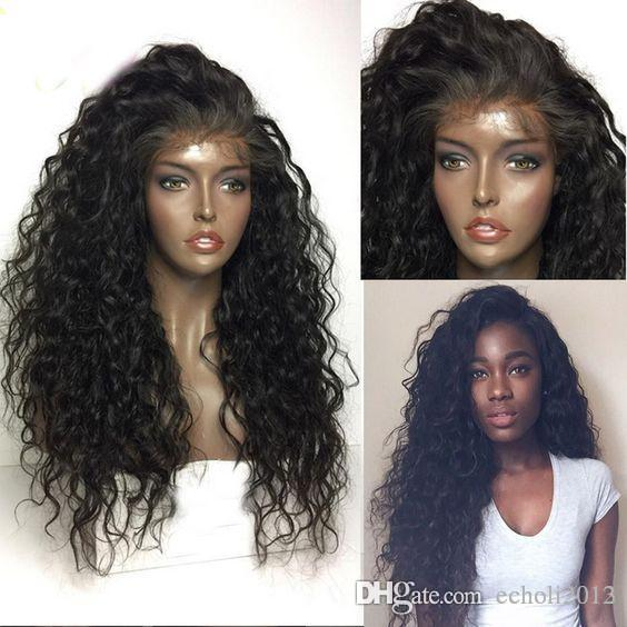 ... 360 Lace Frontal Wig Water Wave Remy Human Hair Wigs For Black Women  Pre Plucked Hairline With Baby Hair Full Lace Virgin Wigs Lace Wigs In South  Africa ... ca158b923