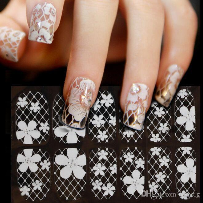 White Lace Nail Art Template 16 Designs Nail Decals 1575cm Diy