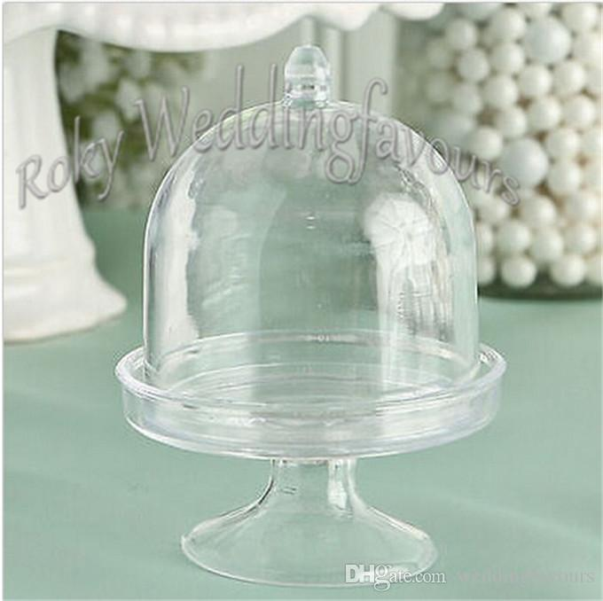 Acrylic Clear Mini Cake Stand Wedding Party Shower Baby Birthday Sweet Table Reception Decor Ideas Souvenirs Supplies