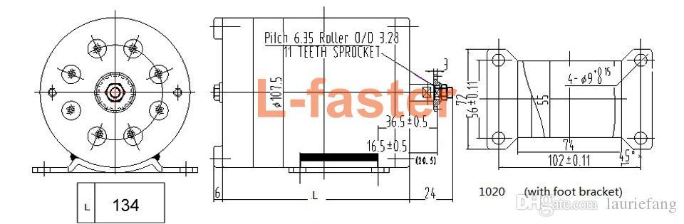 24V36V48V 500W elektrische Hochgeschwindigkeitsmaschine MY1020 b/ürstete Motor mit Fu/ß-Elektro-Fahrrad-Ersatzmotor-Gebrauch 25H oder T8F-Kette