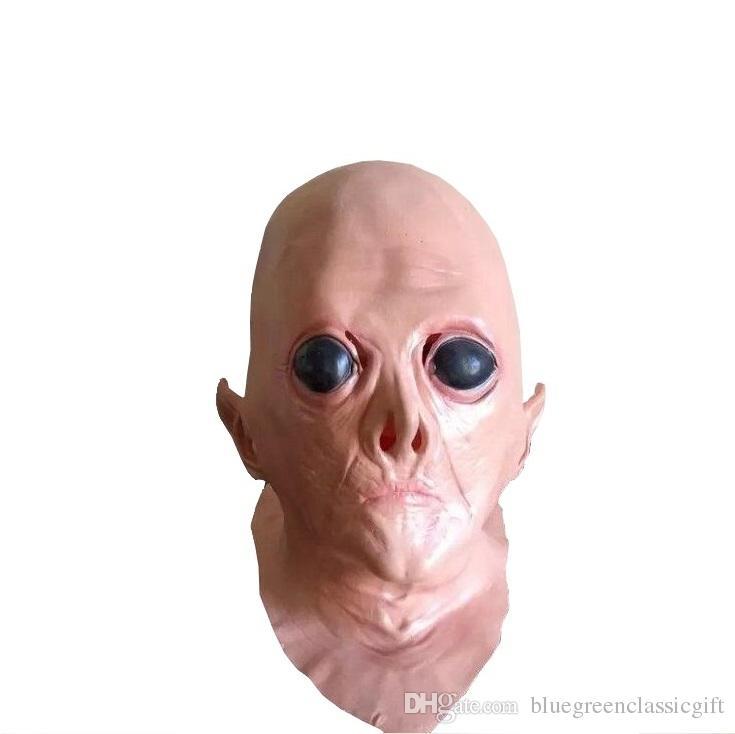 Großhandel Rubber Latex Ufo Aliens Maske Große Augen Schreckliche ...