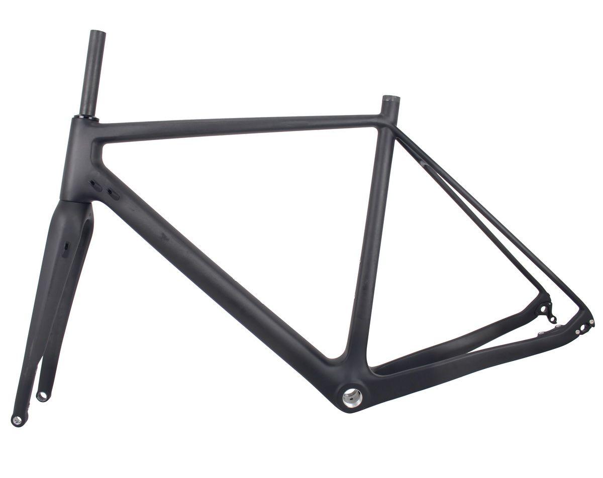 2017 New Cyclocross Carbon Frame Flat Mound Disc Brake Bike Frame Cx ...