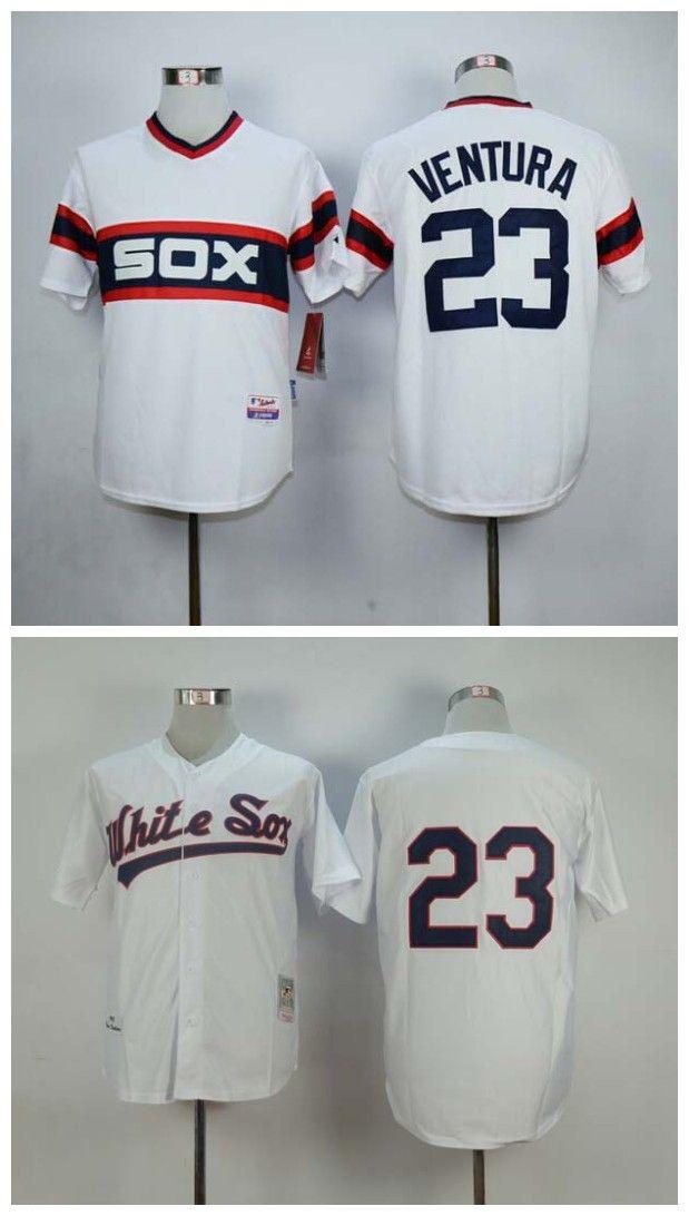 0c108fa17 ... 2017 Robin Ventura Jersey Cheap Chicago White Sox 23 Robin Ventura  Throwback Baseball Jersey High Quality Custom Men ...