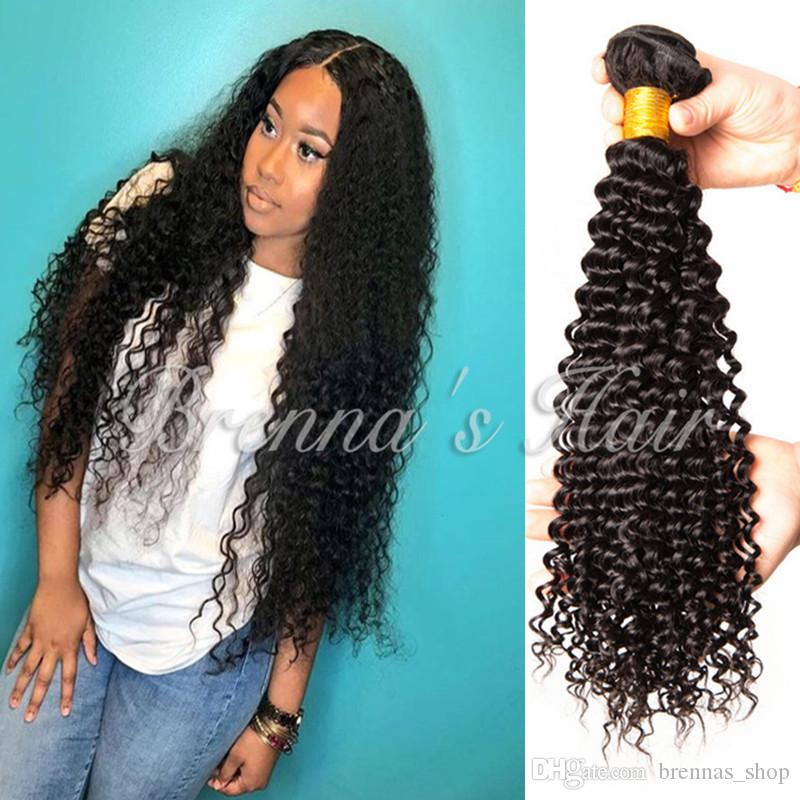 Brazilian Deep Curly Remy Hair Human Hair Extensions Natural