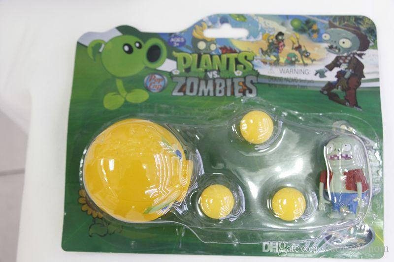 New Hot Plants vs Zombies Figure Toys Gatling Pea PVC Shooting Doll PVZ Toys 17 styles for choices