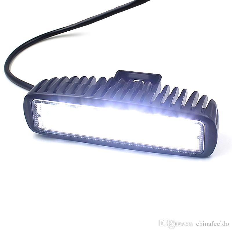 LEEWA V1NF 6 Inç 18 W 6 LEDs Çalışma Işığı Bar Spot Sürüş Işıklar Offroad Sis 4WD Motosiklet SKU: 1639