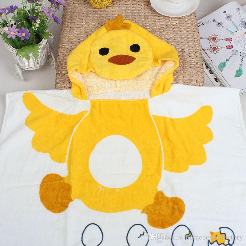 6 Style Baby Boys Girls Hooded Beach Towel Children Hooded Cloak Swimming Towel Kids Cartoon Bath Towel