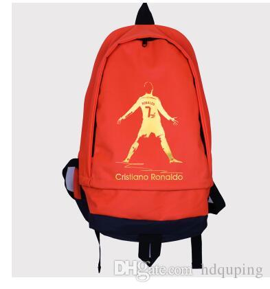 6b1b390da9aa Cristiano Ronaldo Backpack Football Player School Bag Soccer Cr7 Day Pack  Quality Rucksack Sport Schoolbag 7 Daypack Training Package From Hdquping