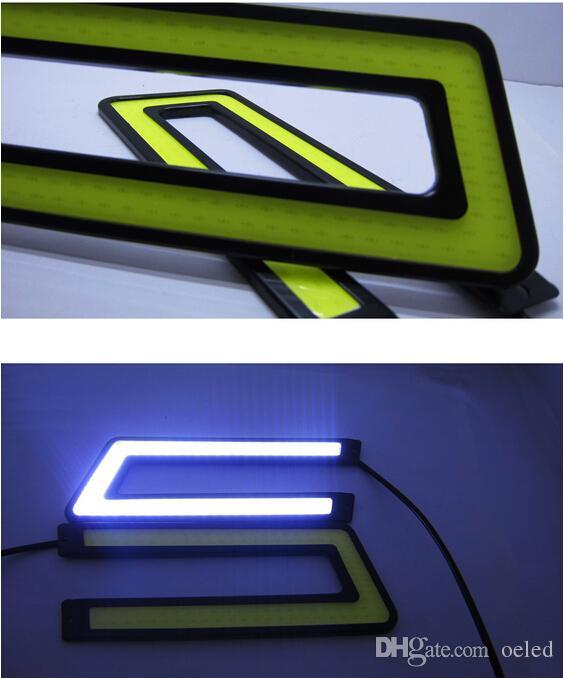 Waterproof cob U Shape 12V 10W LED Car DRL Daytime Running Light cob Strip auto day time running lamps