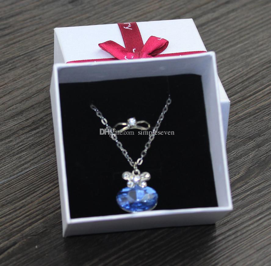 [Simple Seven] Wholesale Romantic Gift Box for Jewelry Set, Bracelet Packing with Red Bow, Wedding Ring Case, Necklace Gift Package