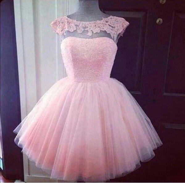 Barato de alta calidad Blush rosa cortos vestidos de baile una línea ilusión bateau escote mangas mini vestidos de fiesta formal