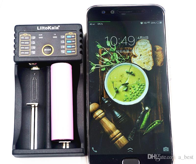 18490 18350 17670 17500 배터리 18650 리튬 이온 충전을위한 충전 범용 18650 개 배터리 충전기 LiitoKala 듀얼 슬롯 충전기 USB