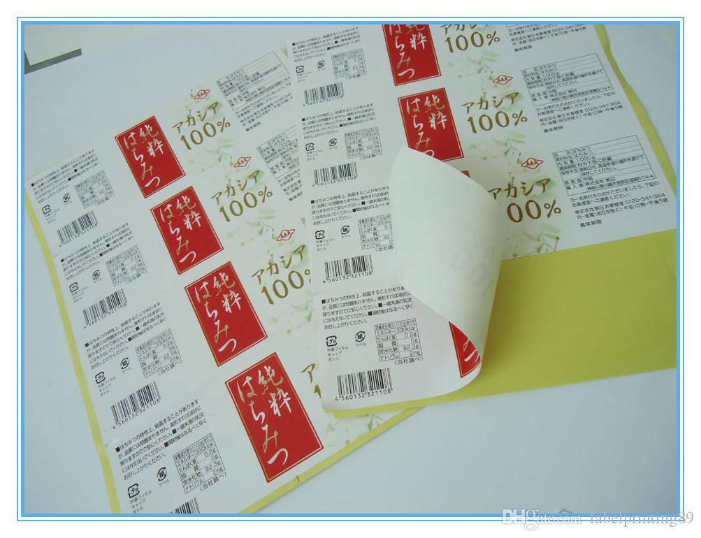 Индивидуальные продукты Пакет Бумага герметичный прямоугольник клейкая этикетка печатная глянцевая ламинация Упаковка наклейки
