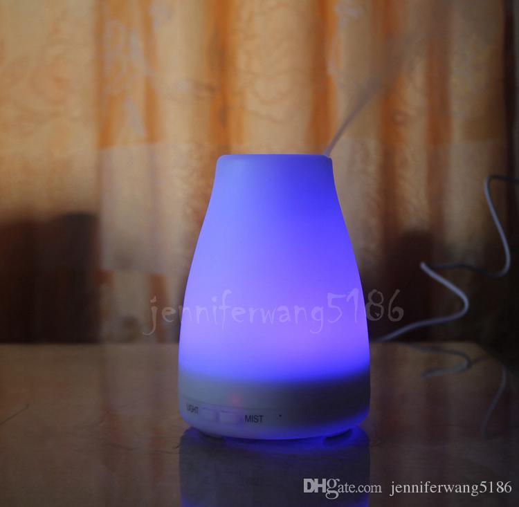 Nueva alta calidad 100 ml difusor humidificador LED para difusor de aromaterapia difusor de aceite esencial ultrasónico DHL / Fedex envío gratis