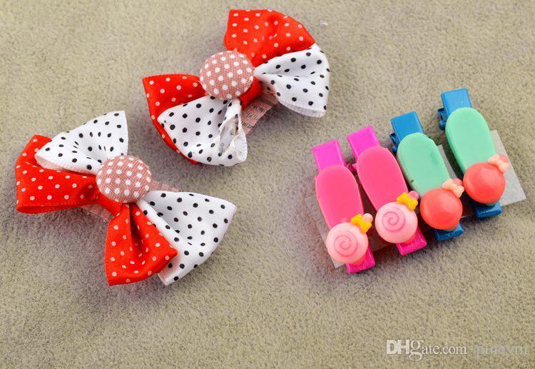 Mezcle los estilos hermoso clip de pelo de arco flor de flores boutique coreana niños Accesorios para el cabello / niñas BA481